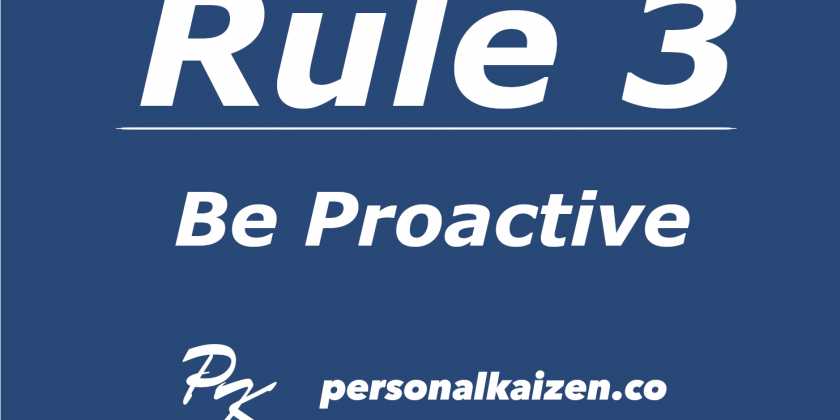 Personal Kaizen 10 Rules for Life: Rule 3
